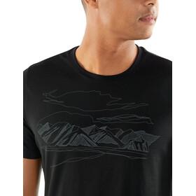 Icebreaker Tech Lite Coronet Peak SS Crewe Shirt Men black